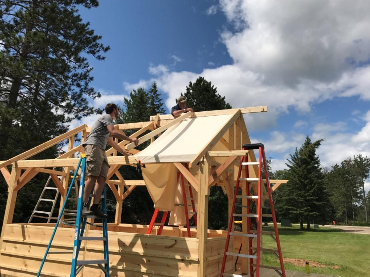 Canvas Roof Installation