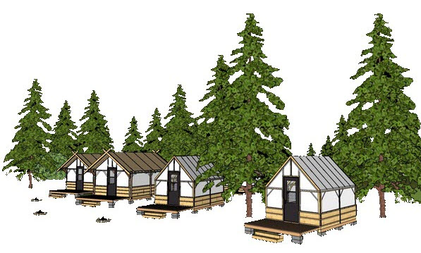 Tent Cabin Camp Model