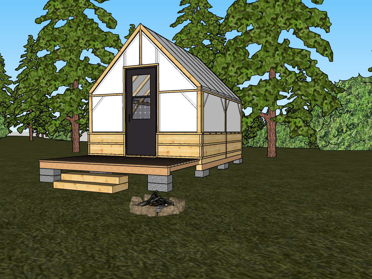 Canvas Shack Tent Cabin Model